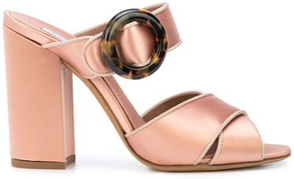 Tabitha Simmons Reyner buckled silk sandals