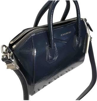 Givenchy Antigona Navy Patent leather Handbags