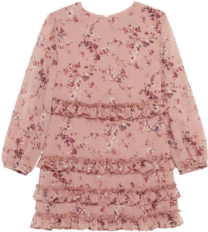 Bardot Ditsy Frill Floral Long-Sleeve Dress, Size 8-16