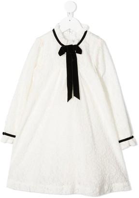 Tartine et Chocolat Ruffled-Collar Lace Dress