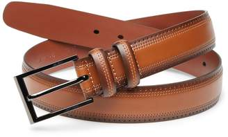 Cubavera Brown Perforated Leather Belt