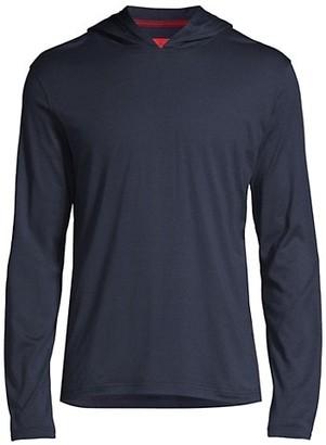 Isaia Silk Cotton Jersey Hoodie
