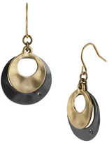 Kenneth Cole New York Two-Tone Sculptural Double Drop Earrings