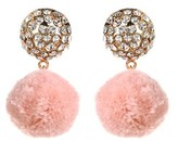 Amrita Singh Pom Pom Crystal Drop Earrings.