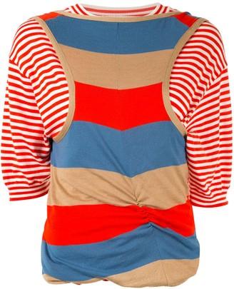 Marni layered striped T-shirt