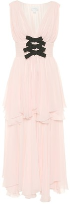 Giambattista Valli Silk georgette maxi dress