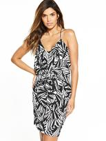Very Strappy Drape Front Dress