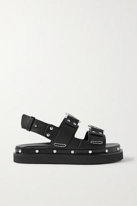 3.1 Phillip Lim Alix Studded Leather Slingback Platform Sandals - Black