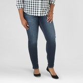 Crafted by Lee Women's Plus Size Indigo Skinny Jean Dark Blue Wash