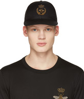 Dolce & Gabbana Black Crown Bee Cap