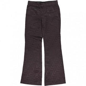 Gucci Brown Silk Trousers