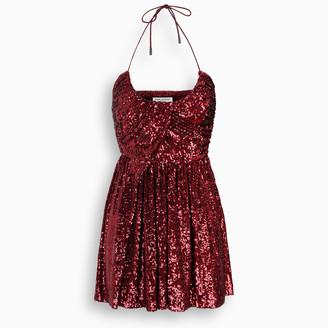 Saint Laurent Strawberry sequin short dress