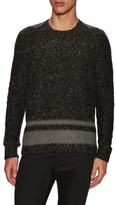 James Perse Wool Stripe Cable Sweater