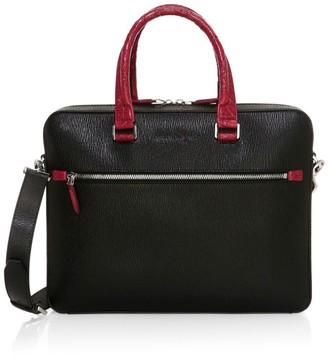 Salvatore Ferragamo Revival 3.0 Leather & Crocodile Briefcase
