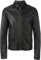 Haider Ackermann 'Kasar' jacket - men - Cotton/Leather - XS