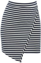 M&Co Stripe wrap over skirt