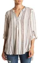 Angie Round Hem Striped Tunic