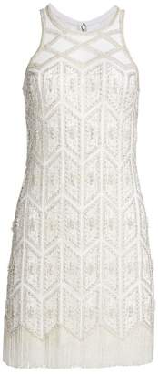 Joanna Mastroianni Embroidered Sleeveless Cocktail Sheath Dress