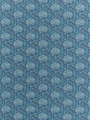 Spendlove Floral Trees Print Fabric, Blue