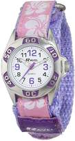 Ravel Girls Lilac Hibiscus Velcro Strap Watch R1507.20