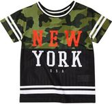 River Island Mini boys black camo NYC T-shirt