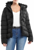 Thumbnail for your product : Brave Soul Ladies Wizard Padded Jacket - Black/Black Trim - UK 8