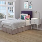 Portfolio Arabella Plum Purple Velvet Upholstered Twin Bed