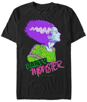 Fifth Sun Universal Monsters Men's Bride of Frankenstein Party Monster Short Sleeve T-Shirt