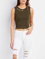 Charlotte Russe Not Your Bae Crop Top