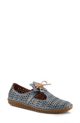Spring Step Sunflowery Perforated Leather Loafer