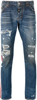 Philipp Plein distressed jeans - men - Cotton/Polyester/Spandex/Elastane - 32