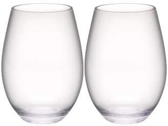 Zak Designs Trinity 20oz Set of 2 Stemless Wine Tumbler Clear