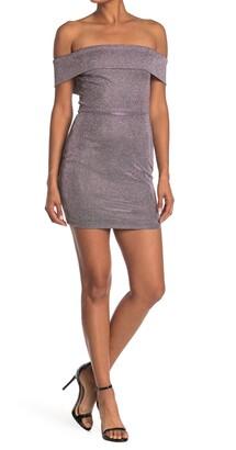 Jump Metallic Off-the-Shoulder Mini Dress