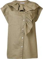 Tome asymmetrical ruffle blouse - women - Cotton - S