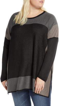 Single Thread Colorblock Tunic Sweater