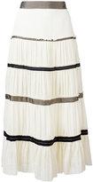 Etro pleated maxi skirt - women - Silk - 40