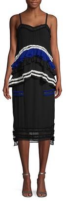 Proenza Schouler Ruffed Sheer Midi Dress