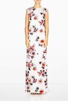 Acne Palm Gazare Floral Print Silk Maxi Dress
