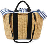 Muun Caba Straw And Striped Cotton-canvas Tote - Beige