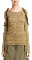 Kenzo Women's Ruffle Metallic Knit Top