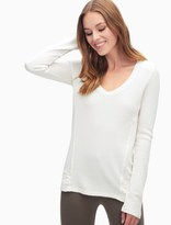 Splendid Thermal V-Neck Pullover