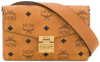 MCM square logo belt bag