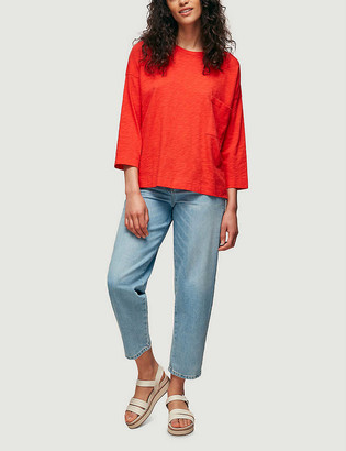 Whistles Pocket oversized cotton-jersey top