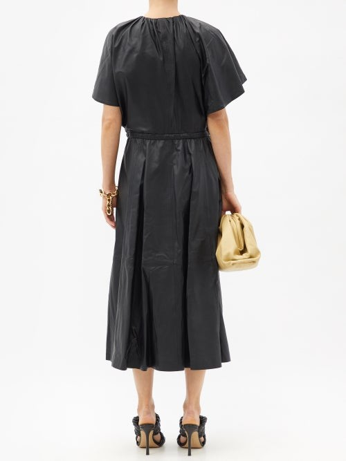 Thumbnail for your product : Altuzarra Romy Belted Leather Dress - Black