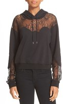 McQ by Alexander McQueen Women's Lace Trim Hoodie