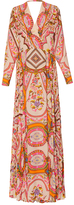 Etro Three Quarter Sleeve Maxi Dress
