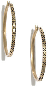 Madewell Etched Hoop Earrings