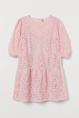 H&M H&M+ Eyelet Embroidery Dress - Pink