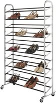 Whitmor 6060-3510 Supreme 50 Pair Shoe Rack, Chrome