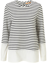 HUGO BOSS BOSS Orange Tawoven Stripe Jersey T-Shirt, Open White